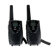 walkie talkie duradera con la NIC conector de auriculares UHF 462mhz / GMRS t667 doble walkie talkie para niños de hasta 6km (1 par negro)