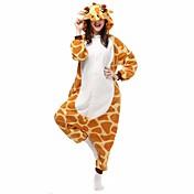 Pijama kigurumi Jirafa Pijama Mono Pijamas Disfraz Franela Vellón Naranja Cosplay por Adulto Ropa de Noche de los Animales Dibujos