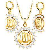 Hombre Mujer Juego de Joyas Collar / pendientes Cristal Diamante sintético Moda Boda Fiesta Diario Casual Cristal Brillante Chapado en Oro