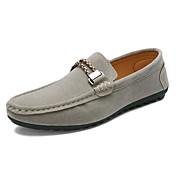 Hombre Zapatos Ante Primavera Verano Otoño Invierno Mocasín Zapatos de taco bajo y Slip-On Para Casual Negro Gris Azul Borgoña