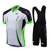 Fastcute Maillot de Ciclismo con Shorts Bib Hombre Unisex Manga Corta Bicicleta Camiseta/Maillot Pecheros/Mallas Largas Con