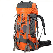 70+5 L Mochila Paquetes de Mochilas de Camping Escalada Viaje Acampada y SenderismoAislamiento de la cabeza Impermeable Resistente a la