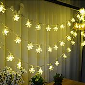 100 - led 10mのスノーライト防水プラグ屋外の休日の装飾ライトは、文字列ライトを導いた