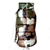 犬 コート ベスト 犬用ウェア 保温 ファッション カモフラージュ イエロー レッド グリーン ブルー コスチューム ペット用