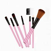 7pcs Pinceles de maquillaje Profesional Cepillo para Colorete / Pincel para Sombra de Ojos / Cepillo de Cejas Pelo Sintético / Caballo Viaje / Profesional Madera