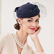 fascinators de red de lana sombreros headpiece estilo femenino clásico