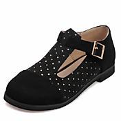 Mujer Zapatos Semicuero Primavera / Verano Bailarinas Tacón Plano Dedo redondo Cristal Amarillo / Rojo / Morrón Oscuro