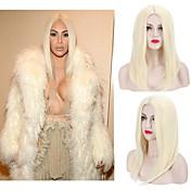 女性 人工毛ウィッグ キャップレス ストレート ブリーチブロンド ミドル部 ナチュラルウィッグ ハロウィンウィッグ カーニバルウィッグ コスチュームウィッグ