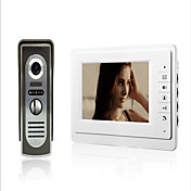 800 x 480 92° CMOS Sistema de timbre Alámbrico Fotografiado / Timbre video Multifamiliares