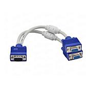 1 x VGA macho a 2 x VGA hembra vga cable divisor