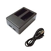 Battery Charger ために アクションカメラ Gopro 5 ユニバーサル プラスチック