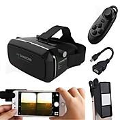 gafas de realidad virtual con la lente de la cámara Mini 3D hacen juego de la película 3D para el smartphone con el gamepad con el regalo OTG androide