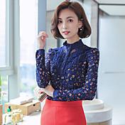 2016年秋の新しい韓国の女性スリムレースの女性バッキングシャツプラス厚いビロードの署名