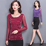 primavera y otoño nueva versión coreana de la marea yardas delgadas camisa de gasa color sólido bronceado hembra de la camiseta de manga