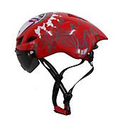 バイクヘルメット 6 通気孔 CE サイクリング 調整可 エクストリームスポーツ ワンピース グーグルとのヘルメット エアロヘルメット 都市 マウンテン 超軽量(UL) スポーツ 青少年 PC EPS ロードバイク レクリエーションサイクリング サイクリング / バイク