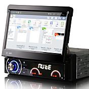 7インチのアンドロイド4.4.4 1喧騒車のDVDプレーヤーのマルチメディアシステム、自動格納式スクリーン取り外し可能なパネル盗難防止ユニバーサルdr7090lt