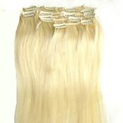 cortar adentro en extensiones de cabello clip en la extensión del pelo recto de la armadura del pelo humano Extensiones de cualquier color