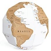 DIYの創造的なスクラッチ地球アセンブリ3Dステレオ地球世界地図垂直世界の贈り物
