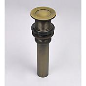 Accesorio de la grifería-Calidad superior-Vintage Drenaje de agua pop-up sin desbordamiento-Terminar - Latón Envejecido