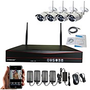 strongshine®4ch h.264ワイヤレスnvr 960p防水赤外線WiFi ipカメラ監視システムキット