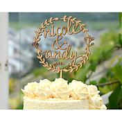 ケーキトッパー あり 夫妻 クロム 結婚式 記念日 イエロー ビーチテーマ フローラルテーマ クラシックテーマ ヴィンテージテーマ 素朴なテーマ 1 ポリバッグ