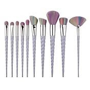 10 Cepillo para Colorete Pincel para Sombra de Ojos Cepillo Corrector Cepillo para Polvos Contour Brush Sistemas de cepillo Pelo Sintético