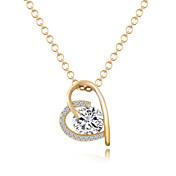 Mujer Corazón Amor Corazón Estilo Simple Collares con colgantes Circonita Zirconio Zirconia Cúbica Legierung Collares con colgantes ,