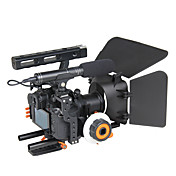 yelangu人気のデジタル一眼レフカメラケージショルダーリグキットはフォローフォーカスマットボックスのサポートユニバーサルカメラが含まれているC500マウント