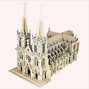 Puzzles de Madera Edificio Famoso Arquitectura China Casa Iglesia Nivel profesional De madera 1pcs Niños Chico Regalo