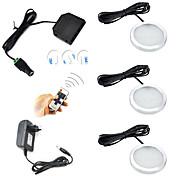 ONDENN 600lm 12 LED Control remoto Regulable Fácil Instalación Conectable Decorativa Control Remoto Luces de Armario Blanco Cálido Blanco