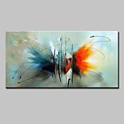 Pintada a mano Abstracto Animal Horizontal,Modern Estilo europeo Un Panel Lienzos Pintura al óleo pintada a colgar For Decoración hogareña