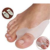 Pie Dedo del pie y Separadores de juanete Pad Corrector de Postura Portable Silicona
