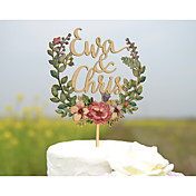 ケーキトッパー あり 夫妻 アクリル 硬質プラスチック カード用紙 結婚式 記念日 ブライダルシャワー イエロー ビーチテーマ ガーデンテーマ フローラルテーマ クラシックテーマ ヴィンテージテーマ ポリバッグ
