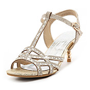Mujer Sandalias Tira en T Tira en el Tobillo Zapatos del club Purpurina Materiales Personalizados Primavera Verano OtoñoBoda Vestido