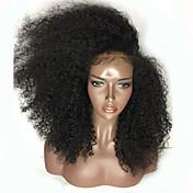 女性 人工毛ウィッグ フロントレース ロング丈 Kinky Curly ライトブラウン ジェットブラック ブラック ダークブラウン Mediumt Browm ナチュラルヘアライン サイドパート ブラックアメリカン風ウィッグ 黒人女性用 ナチュラルウィッグ