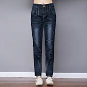 春パンストニンジンパンツのウエストのズボンの符号穴ゆるいジーンズ女性のハーレムパンツの足のズボンの韓国語バージョン