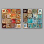 手描きの 抽象画近代の 欧風 2枚 キャンバス ハング塗装油絵 For ホームデコレーション