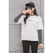 2017年春に新しいセーター偽の二人の女性のストライプのTシャツの刺繍の手紙