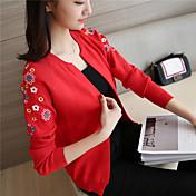 サイン#4488 2017春韓国のスリムなラグランスリーブ刺繍セーターショールカーディガンジャケットコート潮