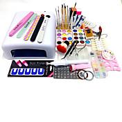75pcs herramientas de manicura establece patrones de placa de impresión en polvo de la lámpara UV se adapte a tallar 818 tipo pluma de la