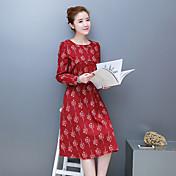 符号2017春新モデル大きいサイズの女性' sの綿は、文学の腰が薄いと長いセクションだったサンディング長袖