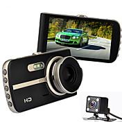ナイトビジョン車dvr novatek 96655フルHD車のビデオレコーダー4.0インチ1080pのビデオ登録者gセンサー車のカメラデュアルレンズ