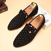 Hombre-Tacón Plano-Confort-Zapatos de taco bajo y Slip-Ons-Boda Informal Fiesta y Noche-Cuero-