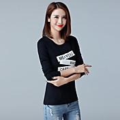 2017春と秋の新しい女性たち' TシャツTシャツ韓国スリムボトミングシャツコットン長袖Tシャツ女性