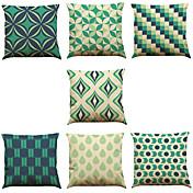 7 PC Lino Cobertor de Cojín Funda de almohada,Vida Salvaje Refranes y citas Sólido Novedad Con TexturasTradicional/Clásico Reforzar
