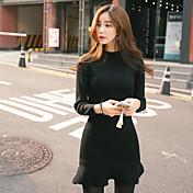 新しい女性韓国スリム薄い長袖フィッシュテールフラッシングボトミングパッケージヒップニットジャンプスーツ