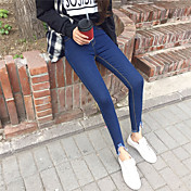 野生の韓国のファッションシンプルな高いポケットヒップは薄いズボンの潮の正味た開拓に署名