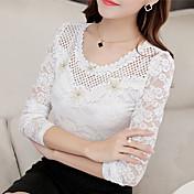 Mujer Estilo clásico - Camiseta Color sólido