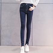 新しい高弾性腰が女子学生薄いストッキングの足の鉛筆のジーンズだった2017年春の新モデルに署名