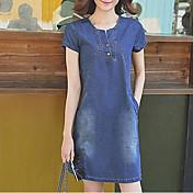 スリムカウボーイドレス女性2017春夏新しい韓国ヤードは薄いルーズデニムスカートのaラインスカートだった